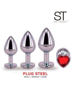 Kit Plug steel -  KIT RY-014 RED