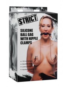 Ball Gag & nipple clamps - AE976