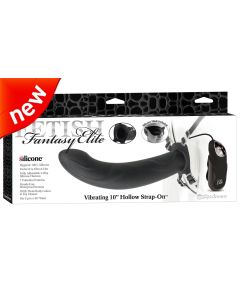 """Vibrating 10"""" Hollow Strap-On - PD 4535-23"""