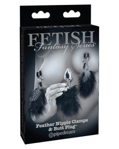 Feather Nipple Clamps & Butt Plug - PD4467-23
