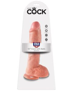 """King Cock 10"""" Cock with Balls - PD5509-21"""