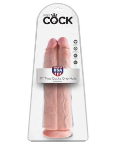 "King Cock  11 ""Two Cocks One Hole - PD5552-21"