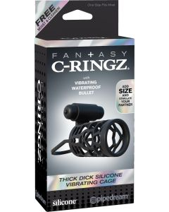 Fantasy C-Ringz Thick Dick Silicone Vibrating Cage - PD5914-23