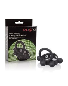Large Weighted C-Ring Ball Stretcher in Black - SE-1413-60