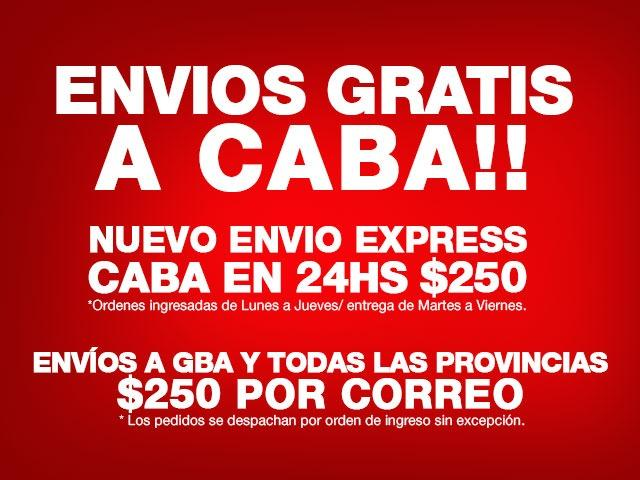 Envíos gratis a CABA